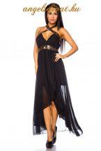 fekete női hosszú ruha