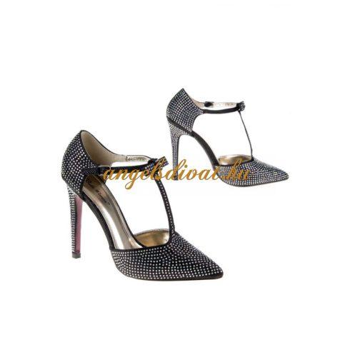 Strasszokkal díszített női alkalmi cipő