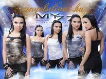 MY77 EZÜST MINTÁS TOP