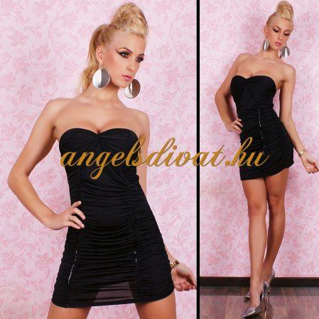 fekete női miniruha