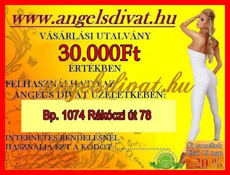 AJÁNDÉKUTALVÁNY 30000Ft